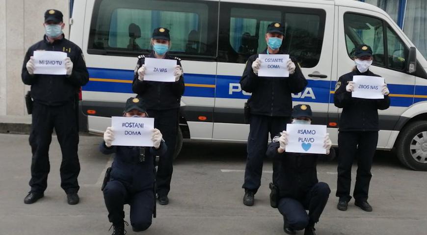 Tri policijska službenika pozitivna na koronavirus